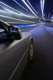 Speed at night. Fast mooving car at night Stock Photos