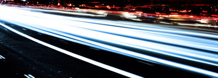 Speed and night shooting Stock Photography