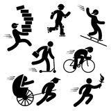 Speed people icons Stock Images