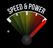 Speed and power concept speedometer Royalty Free Stock Photography