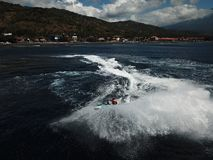 Speed, power, sea, experience and bautiful view stock photo