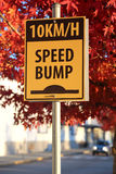 Speed pumper traffic sign. With nature background Royalty Free Stock Images