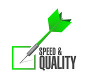 Speed and quality check dart sign Royalty Free Stock Image