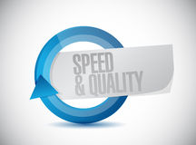 Speed and quality cycle sign illustration Stock Photography
