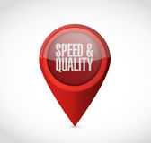 Speed and quality pointer sign Stock Photos