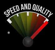 Speed and quality speedometer Royalty Free Stock Photo