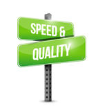 speed and quality street sign illustration design Stock Photo