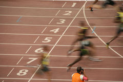 Speed race finish line Royalty Free Stock Photography