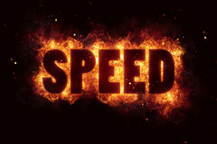 Speed race flames flame burn burning explode Royalty Free Stock Image