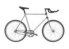 Speed Racing Bicycle Isolated. On white background. 3D render Stock Image