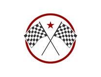 Speed racing themed illustration vector design. Crossed flag speed racing themed illustration vector design template vector illustration