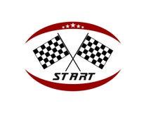 Start crossed flag speed racing themed illustration vector design template. Speed racing themed illustration vector design template royalty free illustration