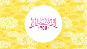 I love you text design for valentines letter