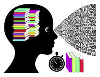 Speed Reading Woman Stock Images