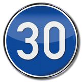 Speed recommendation 30. Drive safely and birthday Stock Photos