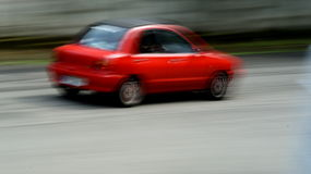 Speed red car Stock Photos