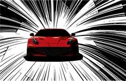 Speed Super Car Vector illustration in the road stock illustration