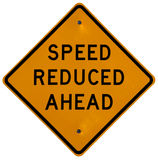 Speed Reduced Ahead stock photo