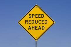 Speed Reduced Ahead Sign Royalty Free Stock Images