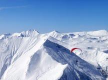 Speed riding in Caucasus Mountains Stock Photos
