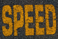 Speed  on the road Royalty Free Stock Photography