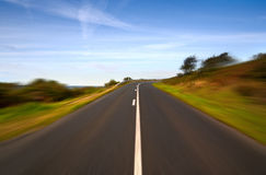 Speed on the road on the cliff - turn right Stock Images