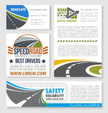 Speed road construction and service vector banners Stock Image