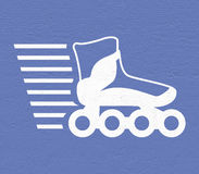 Speed roller skate icon. Design of speed roller skate icon Stock Photos