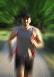 Speed runner stock image