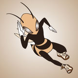Speed runner wasp Royalty Free Stock Image