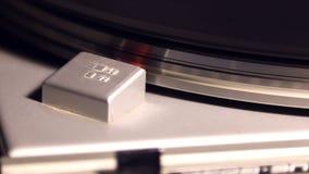 Speed sensor turntable start, rotation, stop. Of the vinyl stock footage