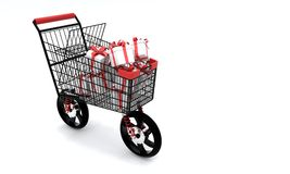 Speed shopping concept, 3d r. Ender Royalty Free Stock Photos