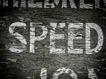 Speed sign Royalty Free Stock Image