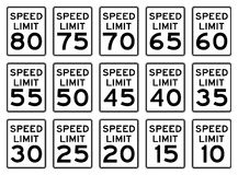 Speed Signs Set stock illustration