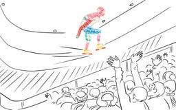 Speed skater. Stock Images
