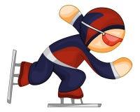 Speed skater icon Stock Photos