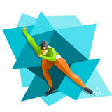 Speed skater Royalty Free Stock Photos