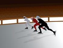Speed Skaters vector illustration