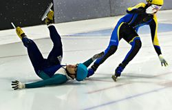 Speed Skating Royalty Free Stock Photography