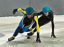 Speed Skating Royalty Free Stock Photo