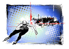 Speed skating frame Stock Photography