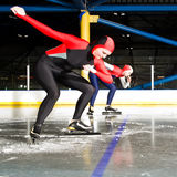 Speed skating match royalty free stock photos