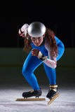 Speed skating. Sport with young athletes Stock Image