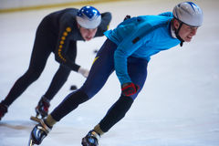 Speed skating. Sport with young athletes Stock Photography