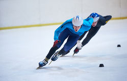 Speed skating. Sport with young athletes Royalty Free Stock Image