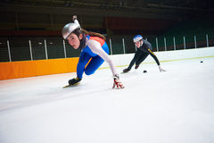 Speed skating Royalty Free Stock Images