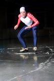 Speed skating start stock photo