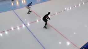 Speed skating start stock video footage