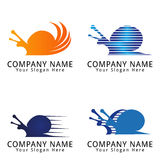 Speed Snail Concept Logo Royalty Free Stock Image