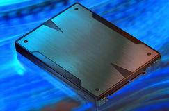 Speed solid state drive storage Stock Image
